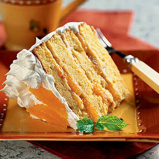 Orange-Almond Cream Cake.