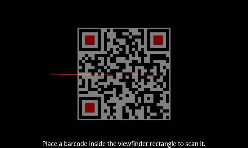 EasyScan QR/Bar Code Scanner - screenshot