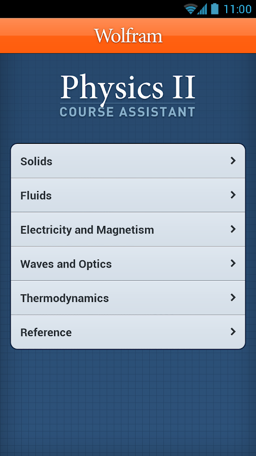 Physics II Course Assistant - screenshot