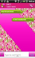 Screenshot of GO SMS THEME/GirlyShapes