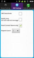 Screenshot of Talking Caller ID & SMS