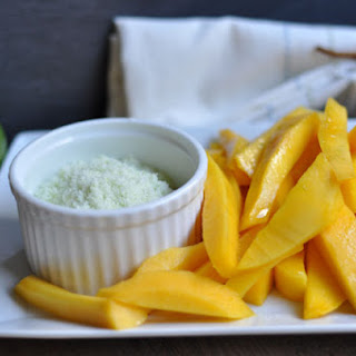 Sliced Mango with Sugared Lime Zest