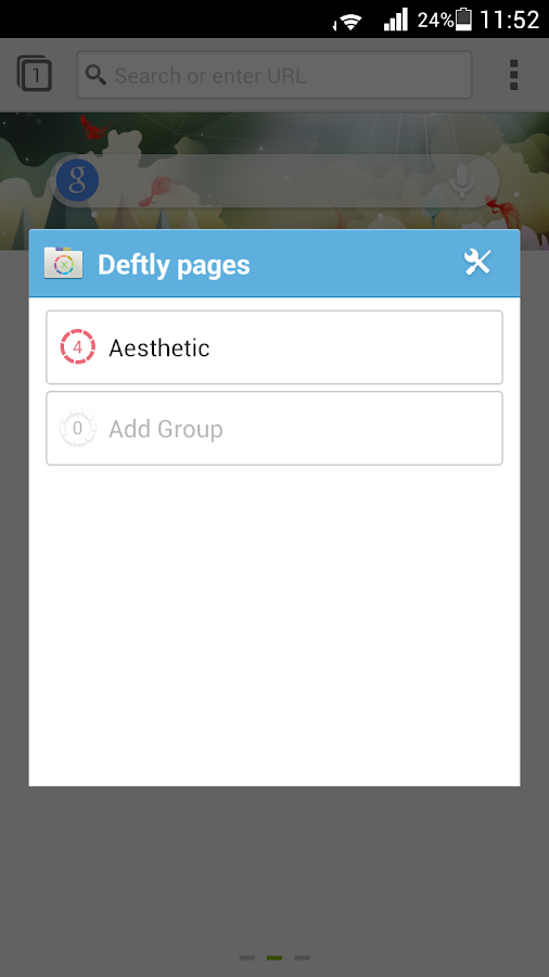 Deft Pages for Next Browser - screenshot