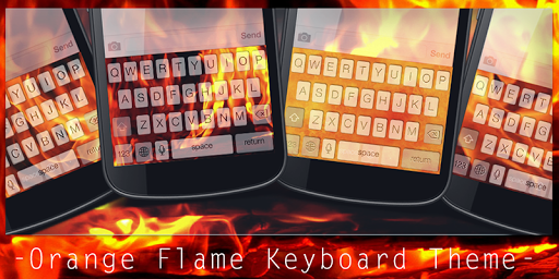 Orange Flame Keyboard Theme