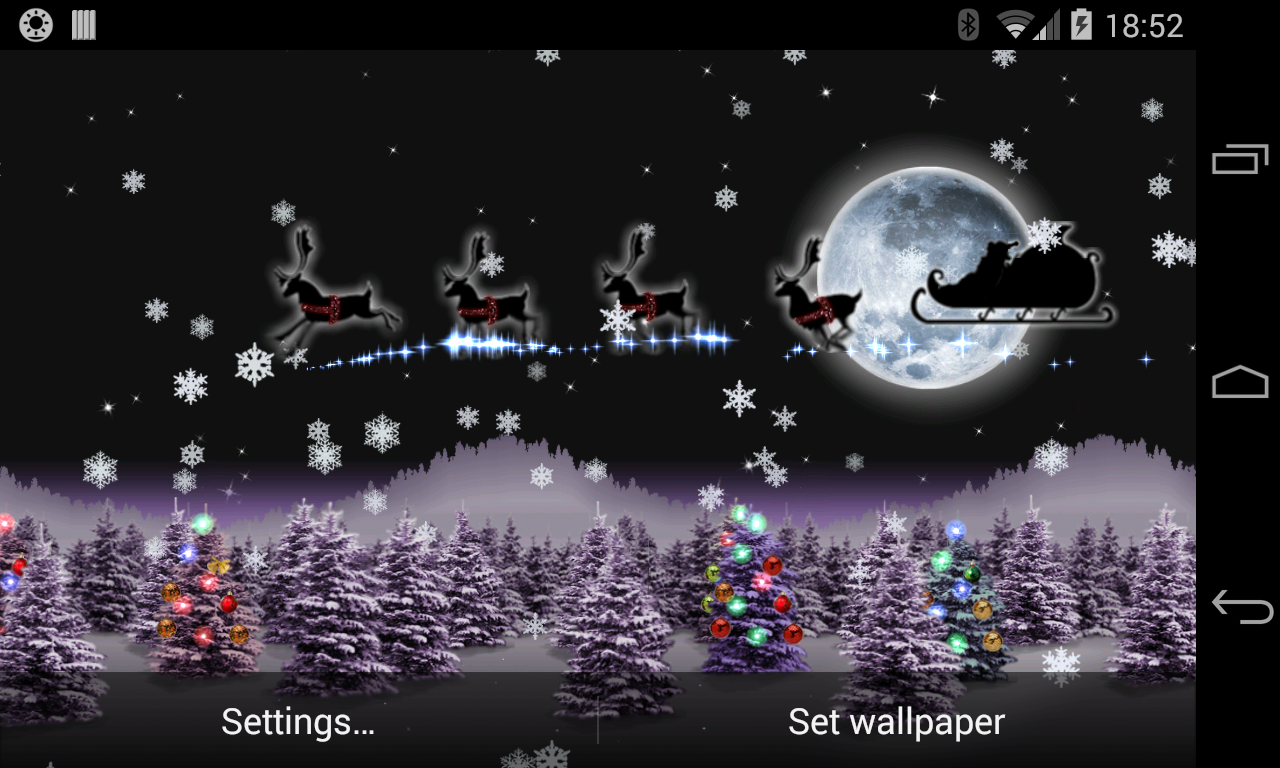 Christmas Live Wallpaper Santa- screenshot