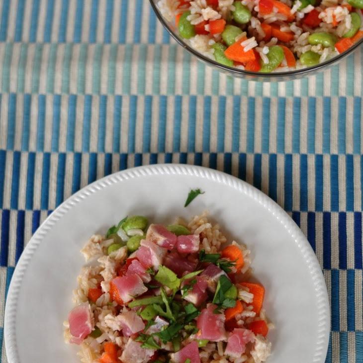Brown Rice Salad with Seared Tuna