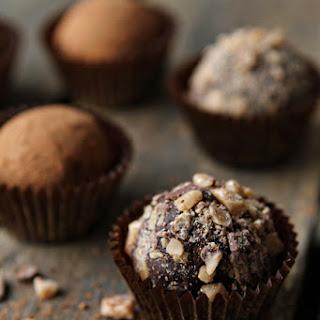 Dark Chocolate Toffee Truffles.