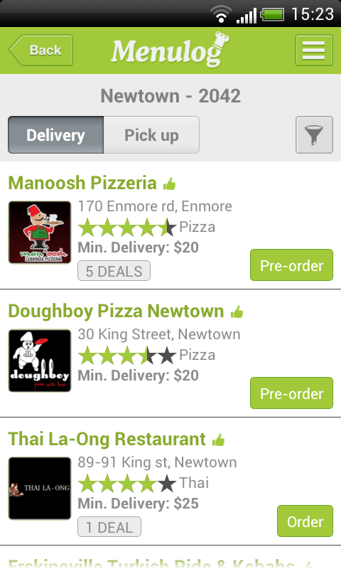 Menulog Order Food Delivery - screenshot
