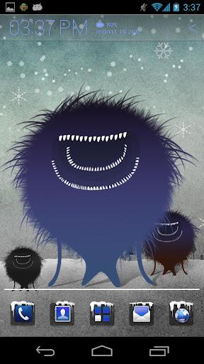 먼지 괴물의 겨울 아톰 테마
