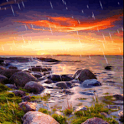 Rain In SunSet Sea Live Wallpa icon