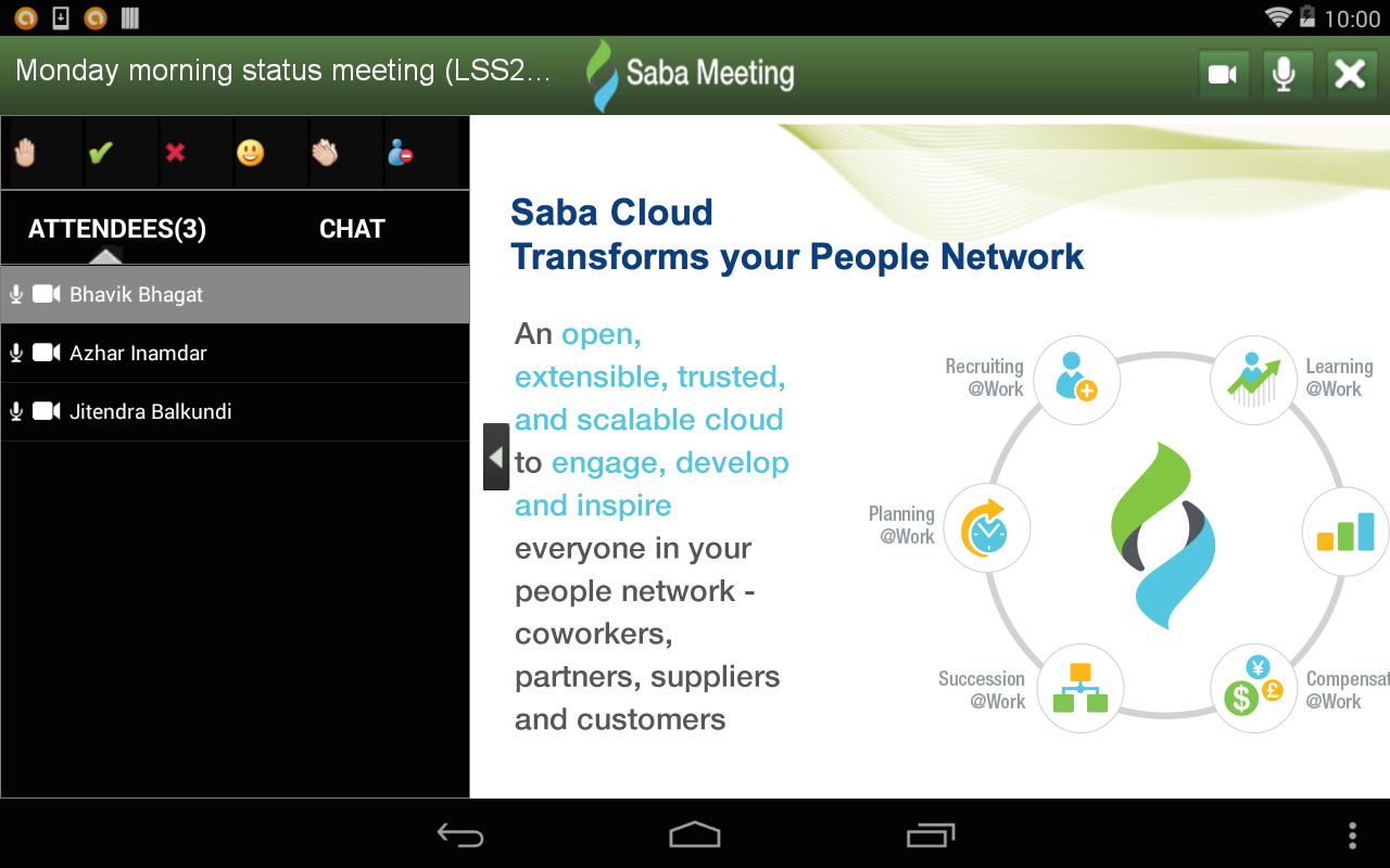 Saba Meeting- screenshot