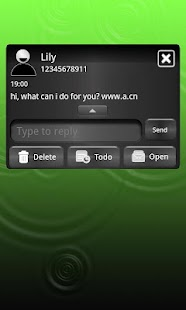 GO SMS THEME COOL GREEN I5 - screenshot thumbnail