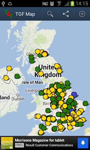 Travel Gluten Free Map
