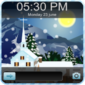 Christmas Snow Go Locker Theme