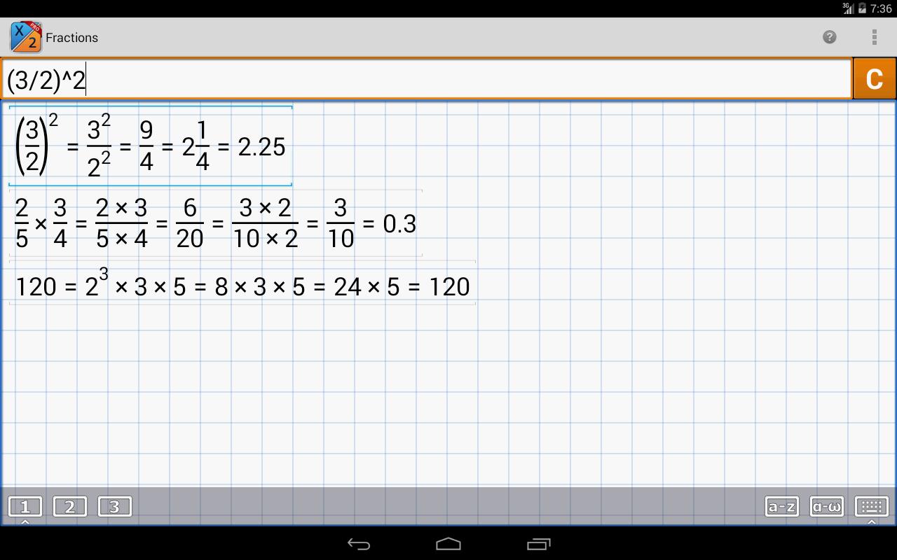 Fraction Calculator MathlabPRO - screenshot