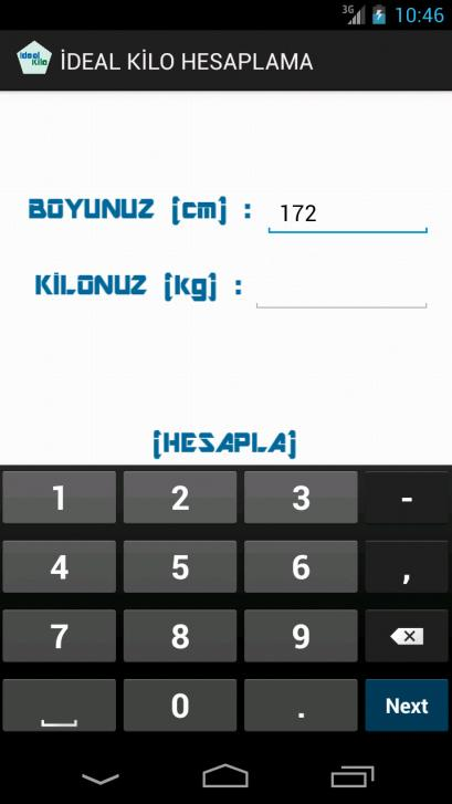 İdeal Kilo - screenshot