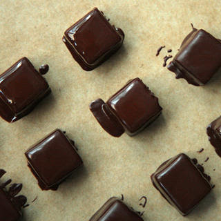 Chocolate-Dipped Salted Caramels