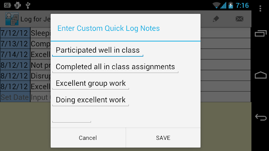 Student Logs Demo (4 Teachers) - screenshot thumbnail