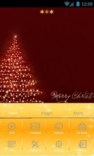 Christmas theme Go Launcher - screenshot thumbnail