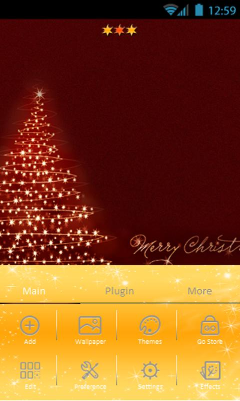 Christmas theme Go Launcher - screenshot