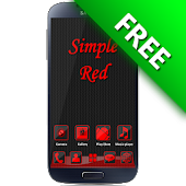 SimpleRed GO Launcher EX Theme