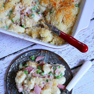 Ham and Cheese Baked Gnocchi