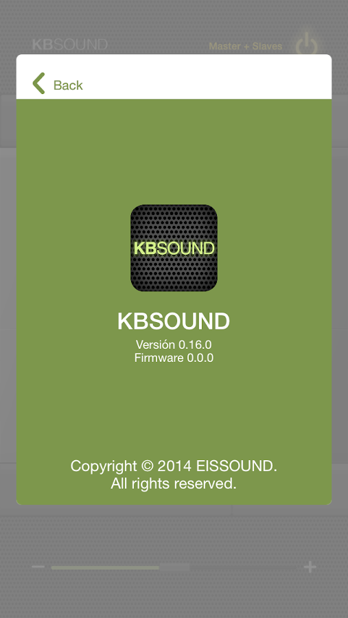 KBSOUND SELECT/SPACE BT: captura de pantalla