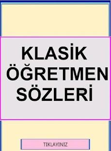 Klasik Öğretmen Sözleri- screenshot thumbnail