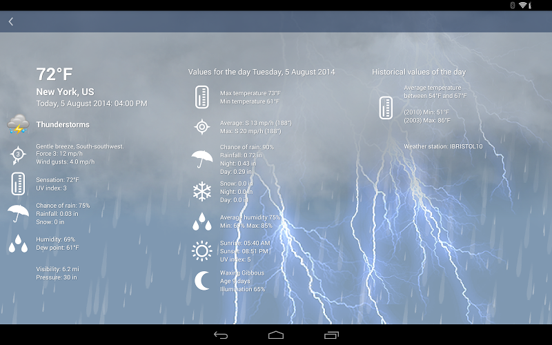 Weather XL PRO Screenshot 9