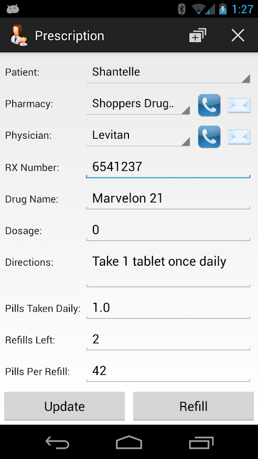 Prescription Monitor - screenshot