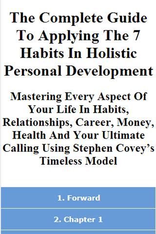 7 Habits Personal Development