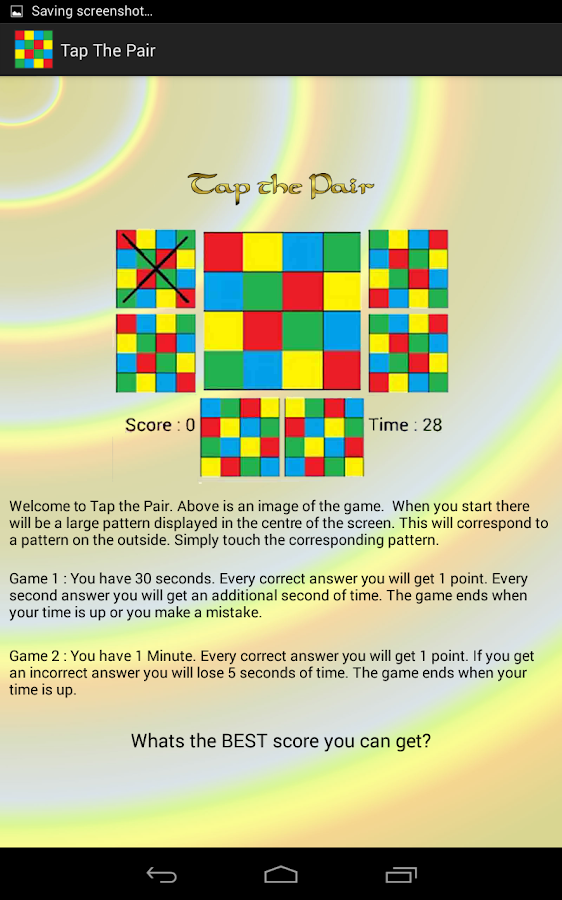Tap The Pair- screenshot