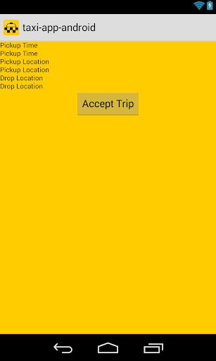 Taxi App Demo Driver
