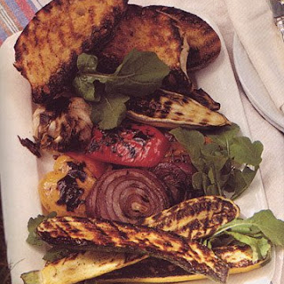 Grilled Vegetables and Tomato Bread