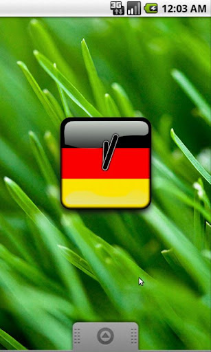 Deutschland Flag Clock Widget