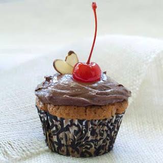 Gluten Free Almond Chocolate Cherry Cupcakes