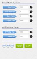 Screenshot of Commercial Rent Calculator