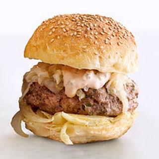 The Wurst Reuben Burgers