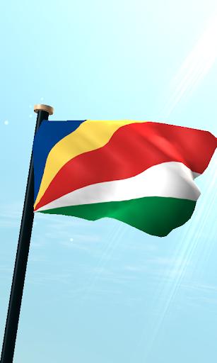 塞舌爾旗3D免費動態桌布