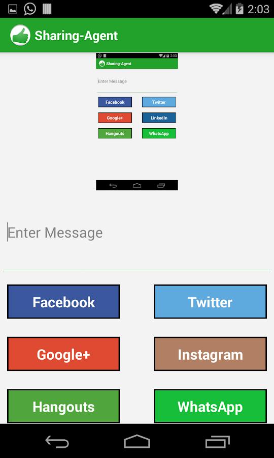 Sharing-Agent - screenshot