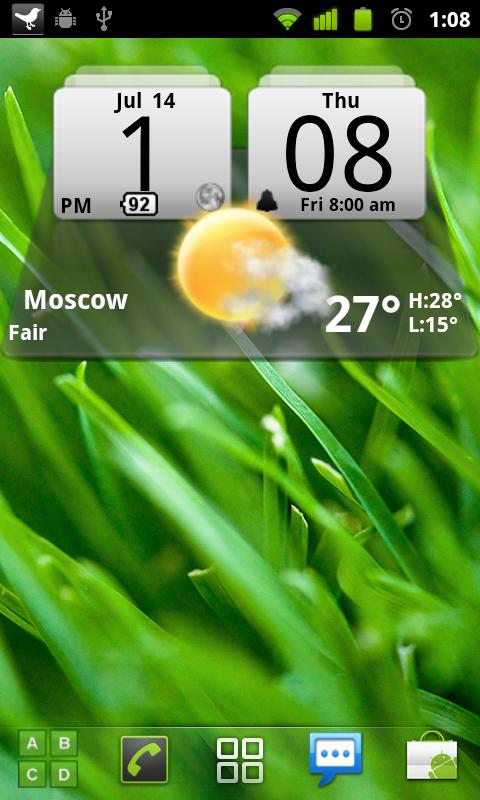 MIUI Digital Weather Clock - screenshot