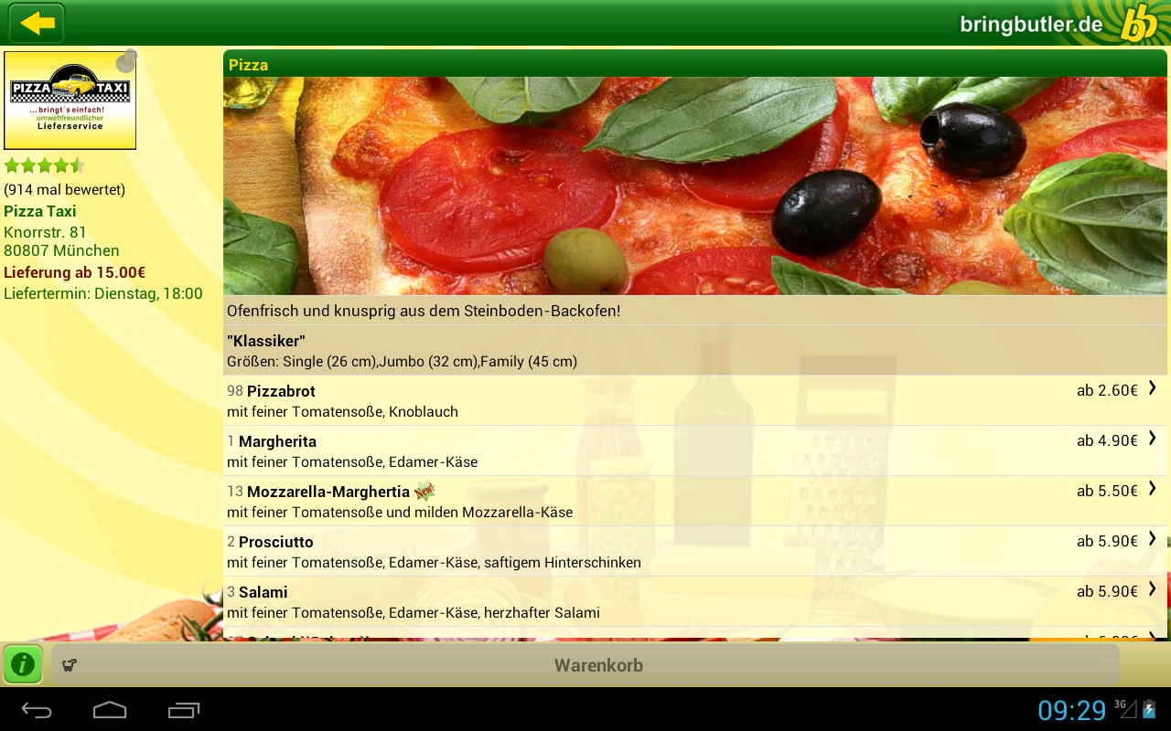 Bringbutler - Pizza, Pasta, .. - screenshot