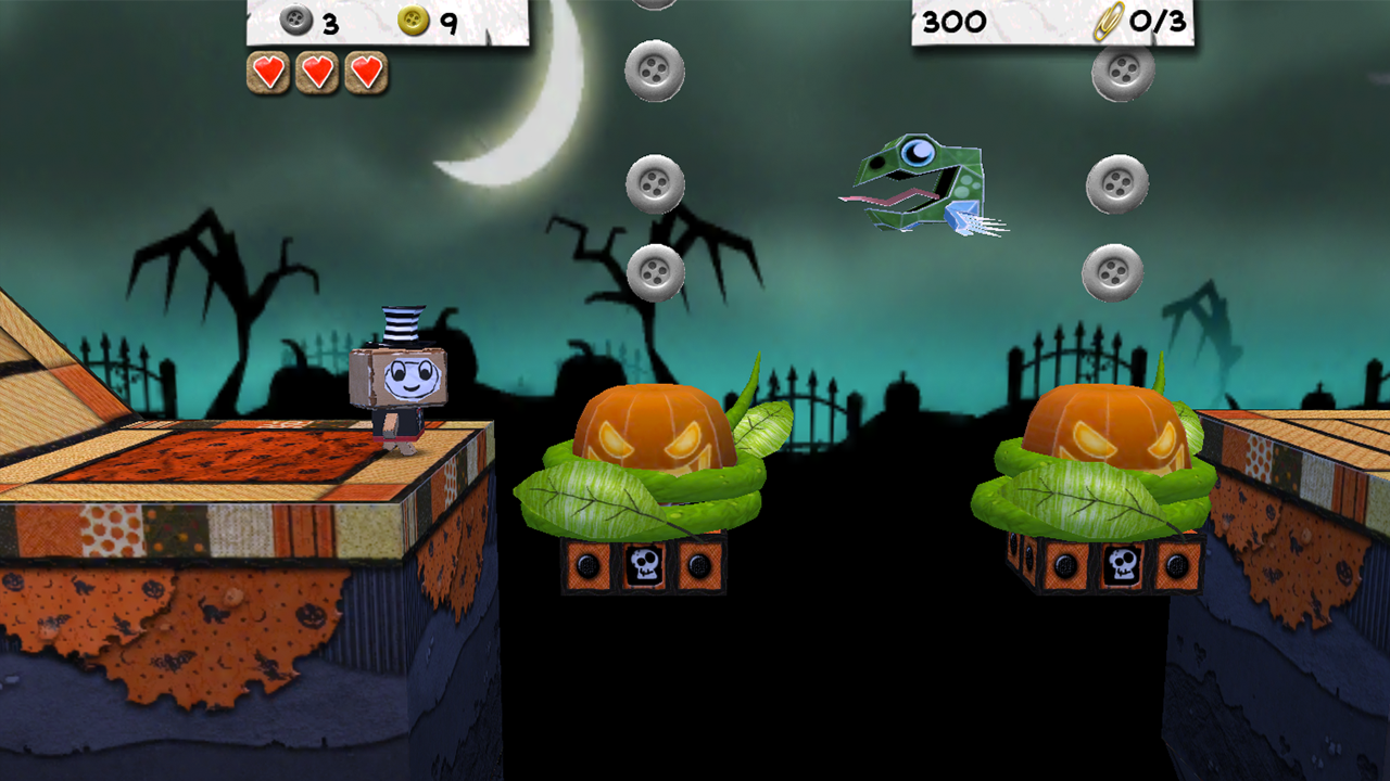 Paper Monsters 3d platformer - screenshot