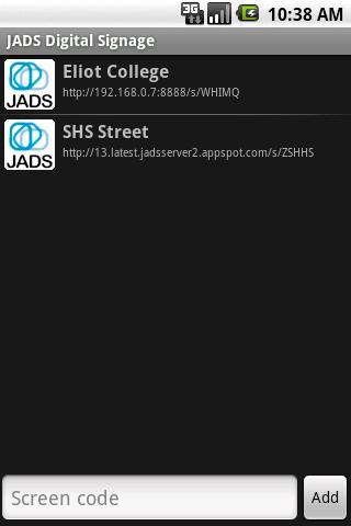 JADS Screen Reader- screenshot