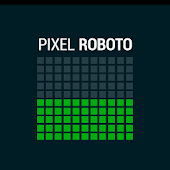 Pixel Roboto Battery Widget