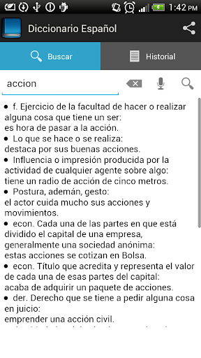 Spanish dictionary 1.6.8 screenshots 2