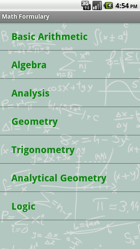 Math Formulary Pro - screenshot