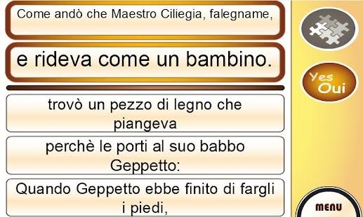 Learn Italian with Pinocchio- screenshot thumbnail