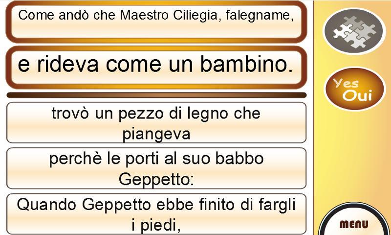 Learn Italian with Pinocchio- screenshot