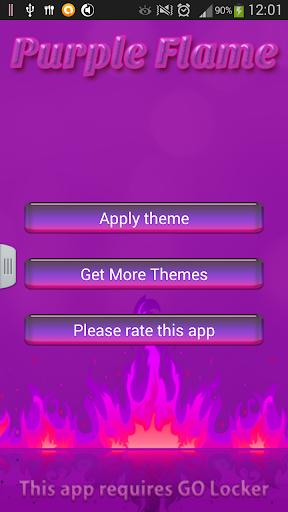 GO锁屏紫色的火焰